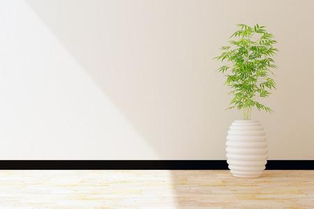 tree pot and white wall interior decorated Stockfoto