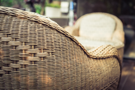 closeup of wood sofa for living lifestyle conception