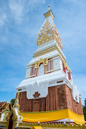northeastern: Phra That Phanom Pagoda in Temple Laotian Style of Chedi, Nakhon Phanom, Thailand.