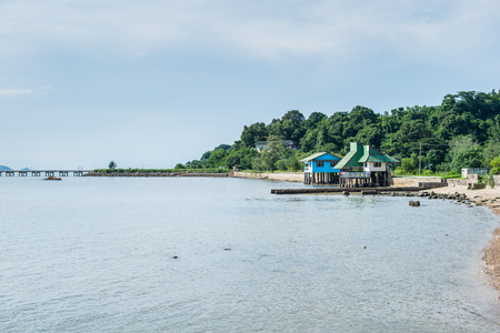 Sea and home stay landscape Stock Photo