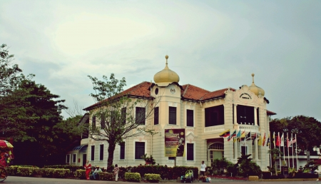 historical building at melacca Stock Photo