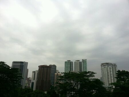 view: A view of buildings in Kuala Lumpur Stock Photo