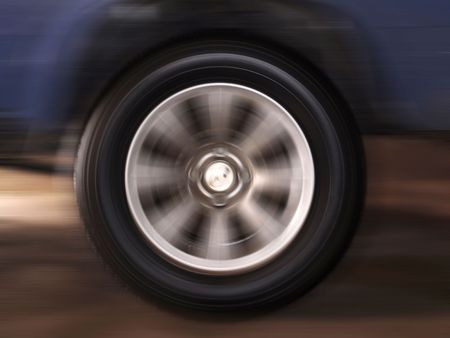 wheelspin: a wheel spins with high speed