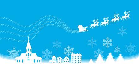 mon 12: christmas silhouette Illustration