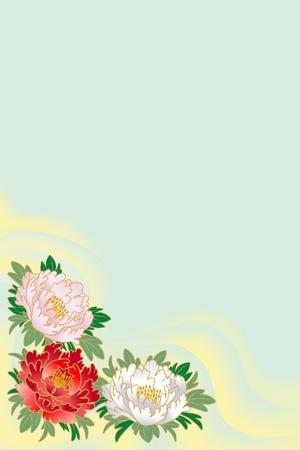 posted: japanese peony Illustration