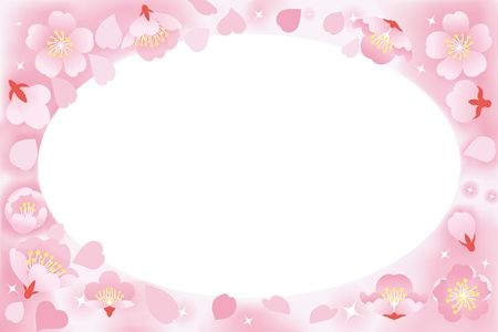 pale: frame of cherry blossoms Illustration
