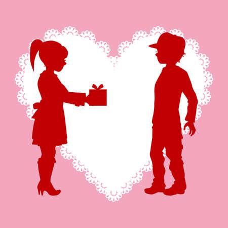love couples: Valentine Illustration