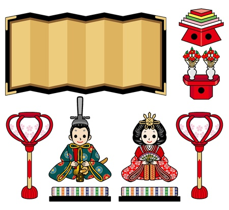Illustration of  Hina Doll