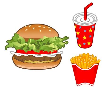 take out food: Hamburger Set