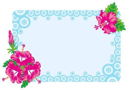 Hibiscus Frame Foto de archivo - 11968439