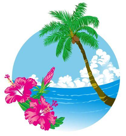 Tropical Summer  イラスト・ベクター素材