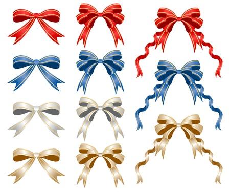 bows and ribbons: Ribbon Sets Illustration