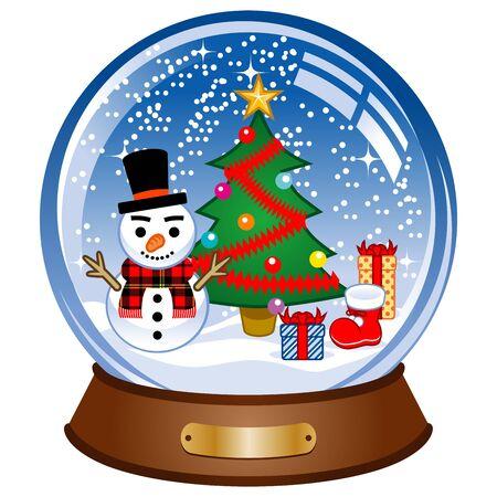 Snow Globe with snowman Stock Vector - 11968453