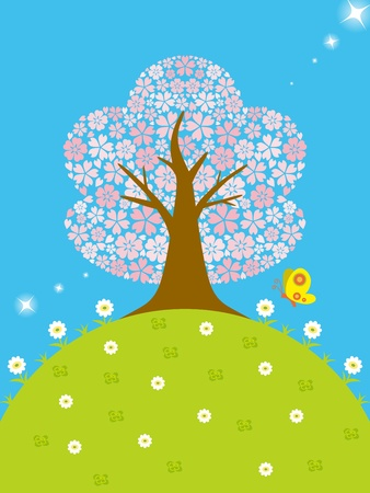 Cherry tree Stock Vector - 12184031