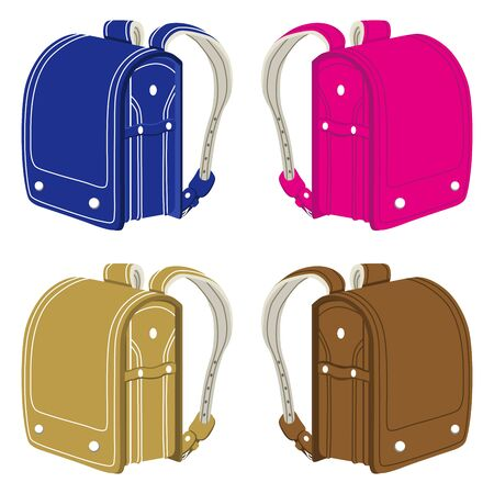 Japanese elementary school bags Stock Vector - 15119570