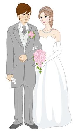 結婚のカップル  イラスト・ベクター素材