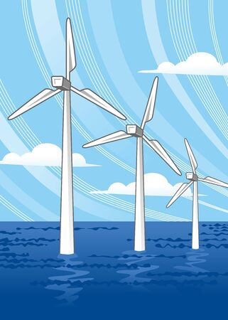 force of the wind:  Wind power Ocean