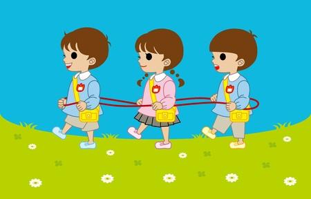 smock: kindergartner trio