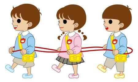 kindergartner Tres niños