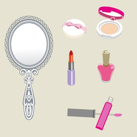 hand mirror: Cosmetics