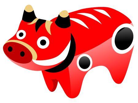 fukushima:  Japanese traditional toy Akabeko