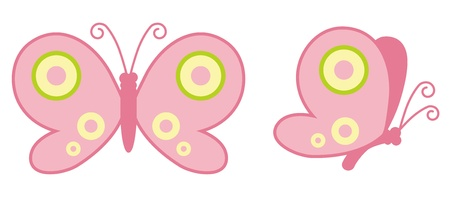 Pink Butterfly Stock Vector - 12847996