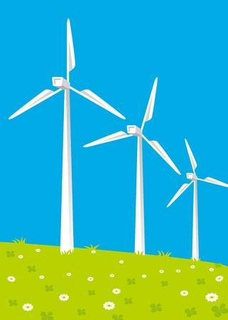 kelly green: Wind turbines