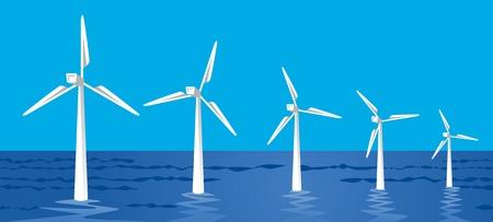 Offshore wind power Stock Vector - 12847650