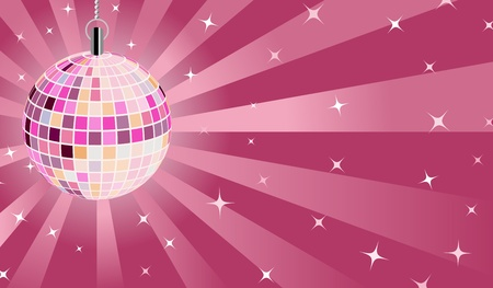 Pink Disco ball Stock Vector - 12847670