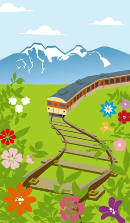 Railway in the country Stock Vector - 12847659