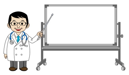 Explaining Doctor with Whiteboard Stock Vector - 13074929