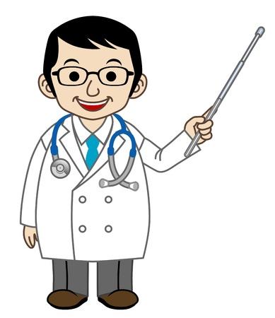 Explaining Doctor Stock Vector - 13074927