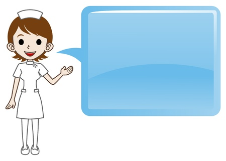commentary: The nurse who explains with Speech bubble Illustration