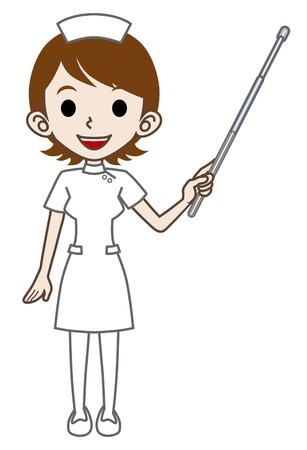 enfermera con cofia: Explicación de la enfermera Vectores