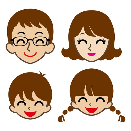 Happy Family Face icon Ilustracja