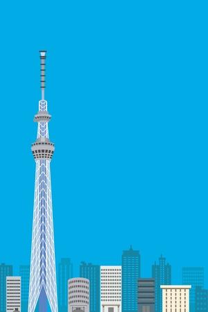Tokyo Sky Tree,  Vertical composition