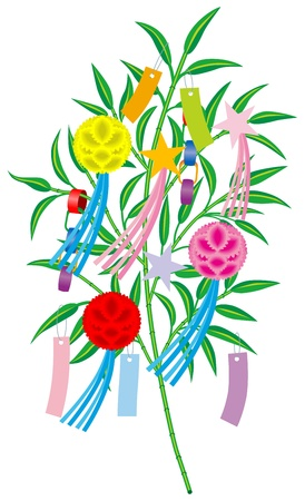 Tanabata decoration  means  a decoration of traditional summer Festival in Japan