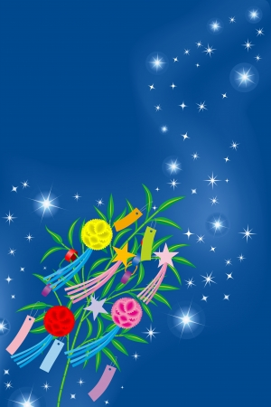 Tanabata image  means  a image of traditional summer Festival in Japan Stock Vector - 13625532