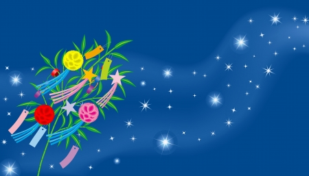 traditional festival:  Tanabata image  means  a image of traditional summer Festival in Japan