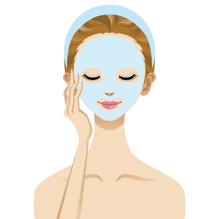 Skin care beauty woman image , Facial Mask Stock Vector - 13879133
