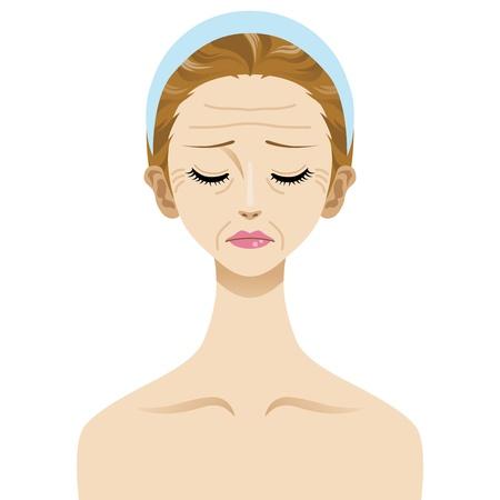 wrinkles , Skin Trouble Vector