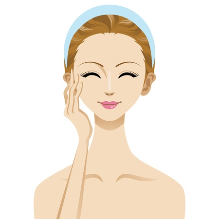 Skin care beauty woman image , smile face