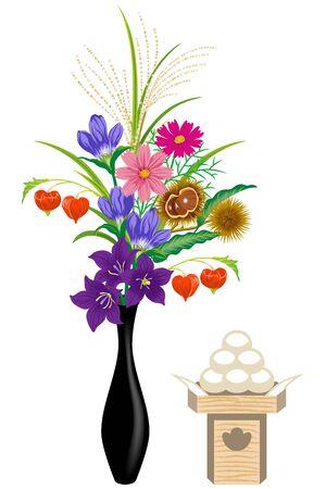 harvest moon: Japanese Harvest moon offering