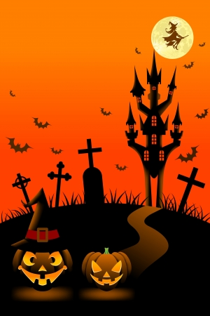 Halloween night,Vertical Vector