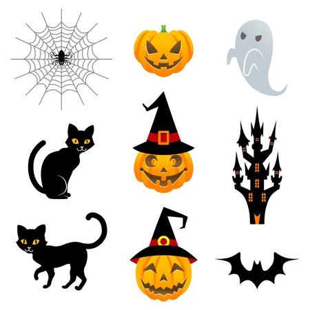 Halloween material set Vector