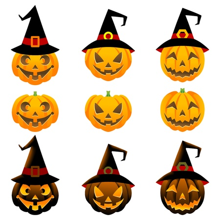 Jack O-lantern set,halloween ornament Stock Vector - 15250408