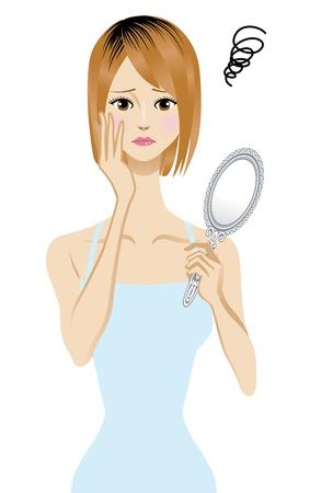 女性の髪の色に失敗する人