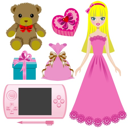 Toy for girls Vector