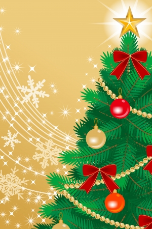 �back ground�: Christmas tree Close-up, golden color Back ground