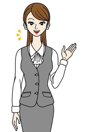office lady guide speak